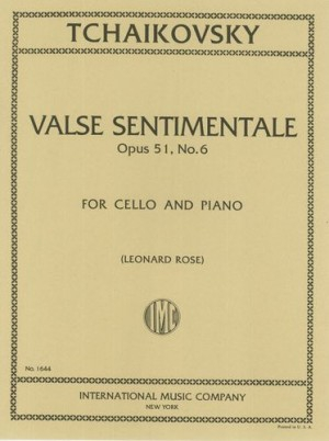 Valse sentimentale op.51 no.6 image