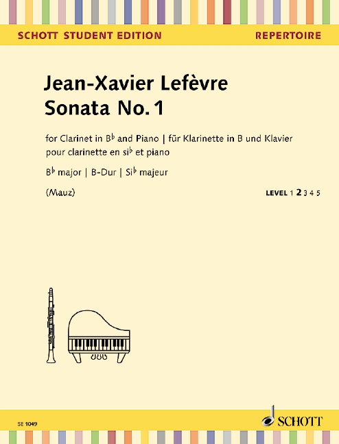 Sonata no.1 in B flat Major image