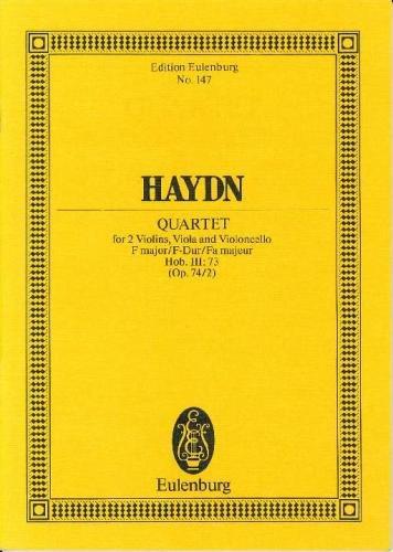 String quartet op.74 no.2 in F Major image