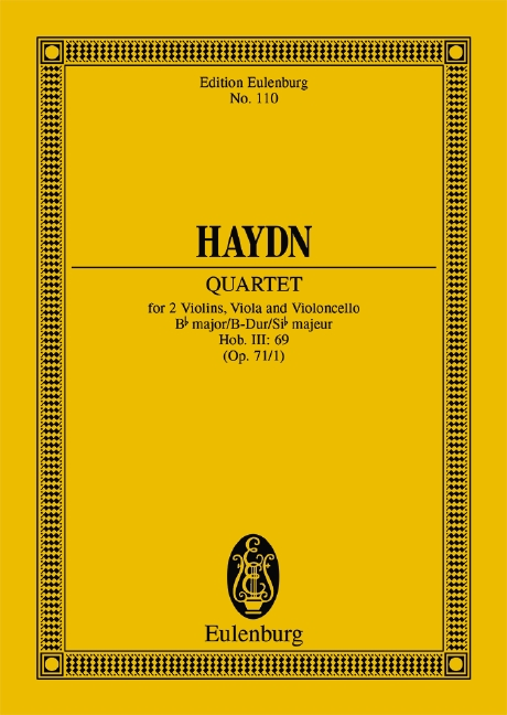 String quartet op.71 no.1 in B flat Major, Hob.III:69 image
