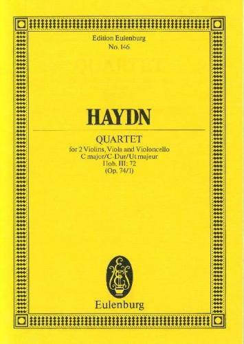 String quartet op.74 no.1 in C Major image